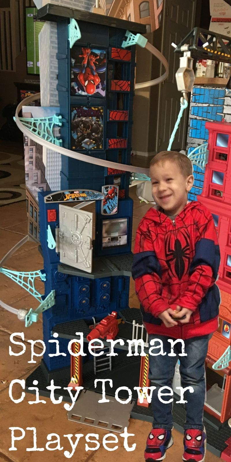 The Spideman Mega City Tower Playset! A 5 Year Old Dream