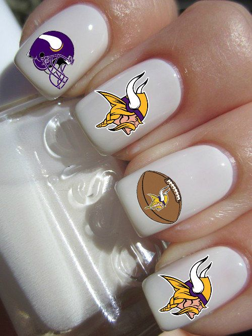 Minnesota Vikings Football Nail Decals By Pinegalaxy On Etsy 450
