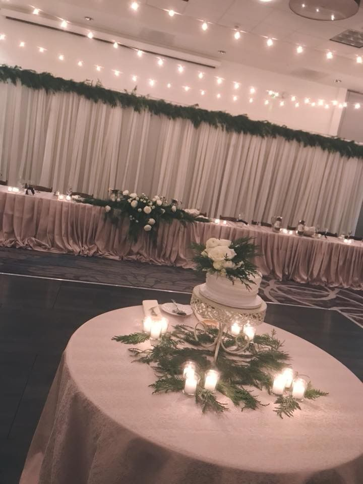 Head Table Pleated Draping: I Do Events: https://www.ido ...