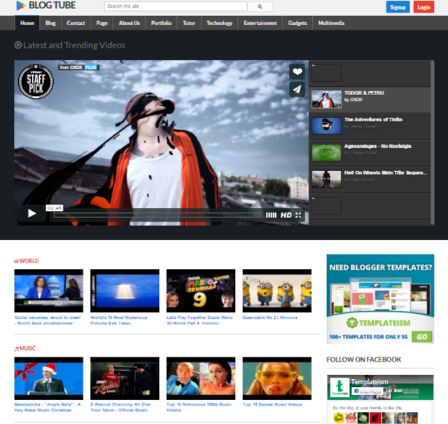 10 Free Video Blogger Templates Video Tube In Blogger Blogger Templates Website Template Corporate Website Templates