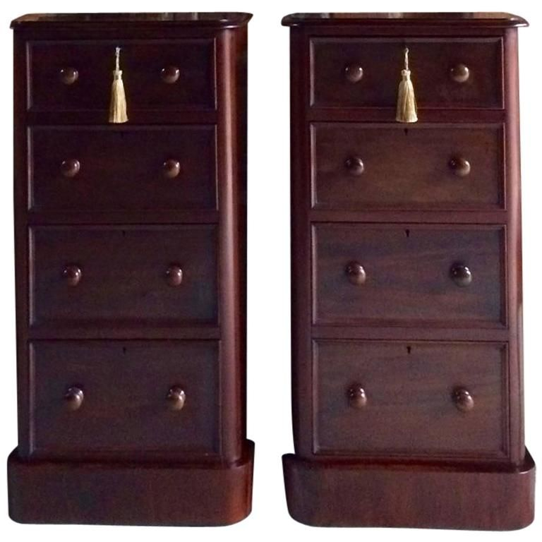 Best Antique Pair Of Victorian Mahogany Bedside Cabinet Tables 400 x 300