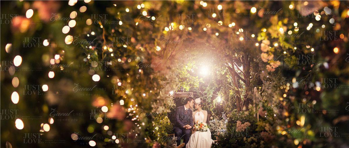 Korean Studio Pre Wedding Photography Night Romance by