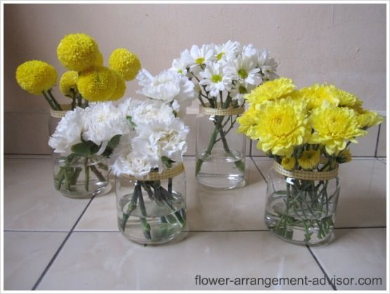 Daisy flower arrangement centerpieces these are