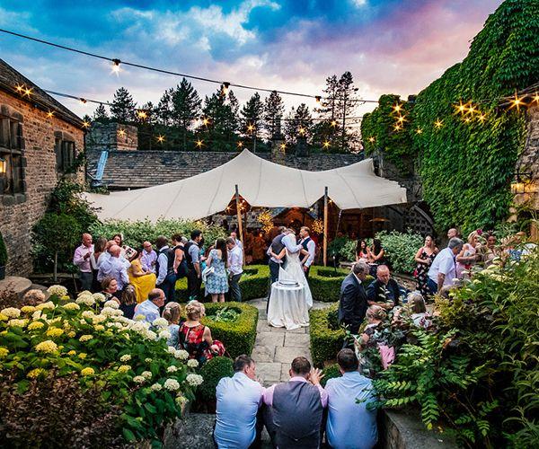 Outdoor Drinks Reception At Upper House Castle Wedding Venue