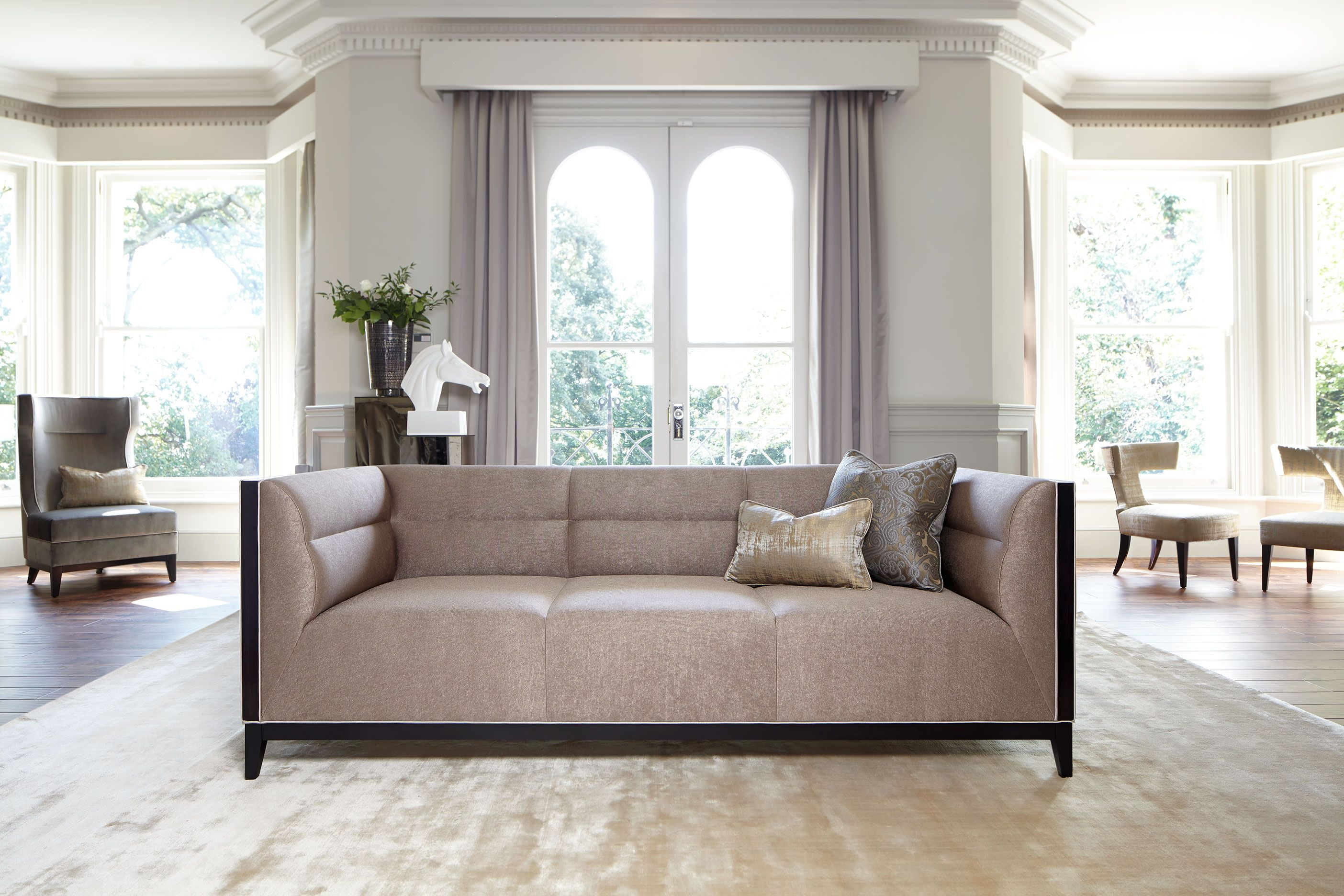 Rochester sofa is a piece which makes a statement but will never