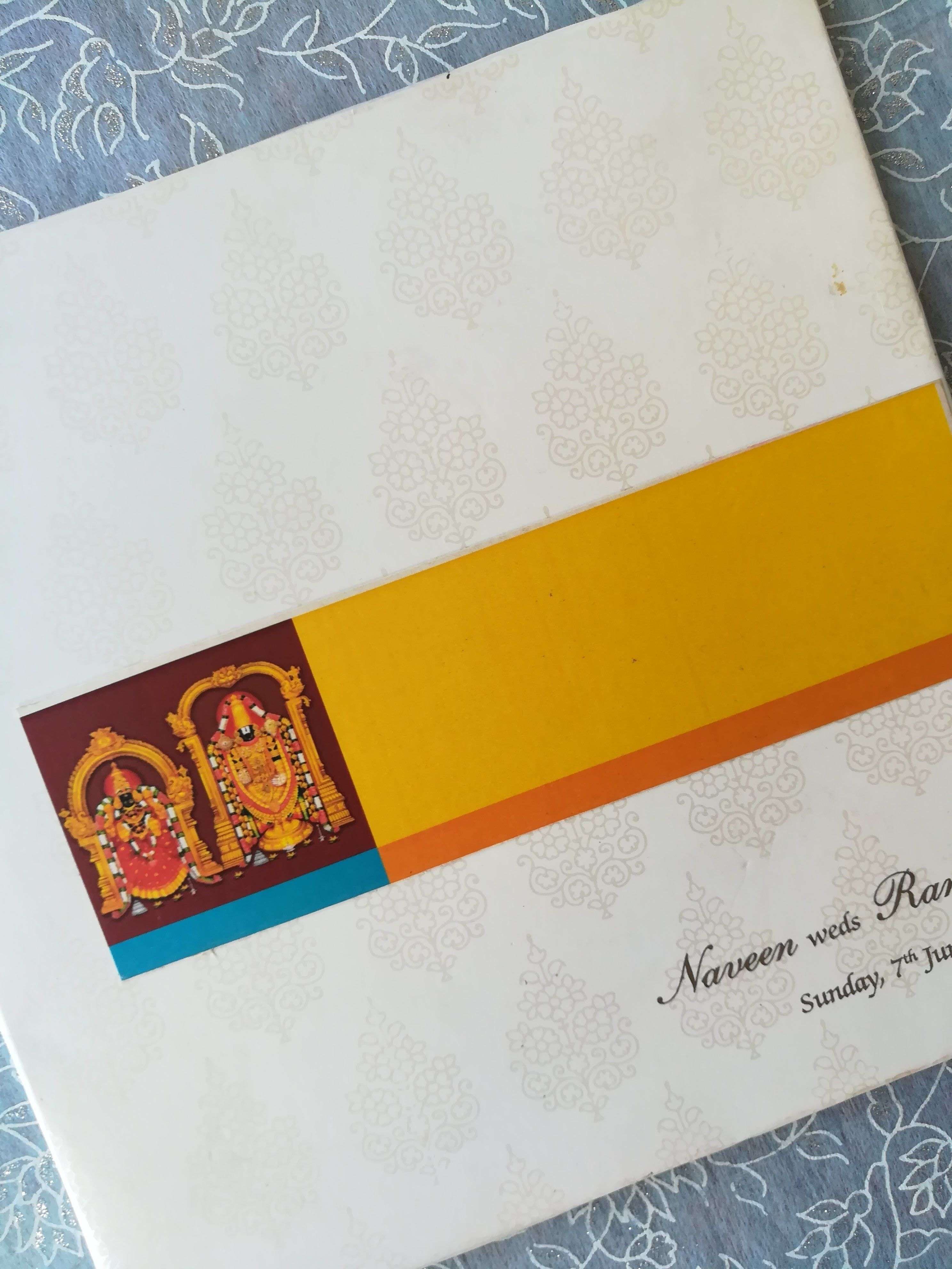 South Indian Traditional wedding card Which conveys modern and traditional in a classic way designed and printed by dreamcards