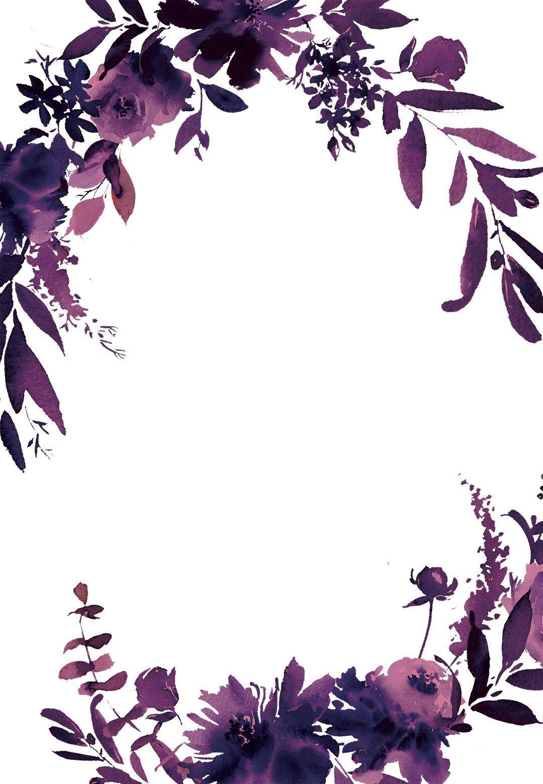 Indigo Flowers - Birthday Invitation Template (free)  Greetings