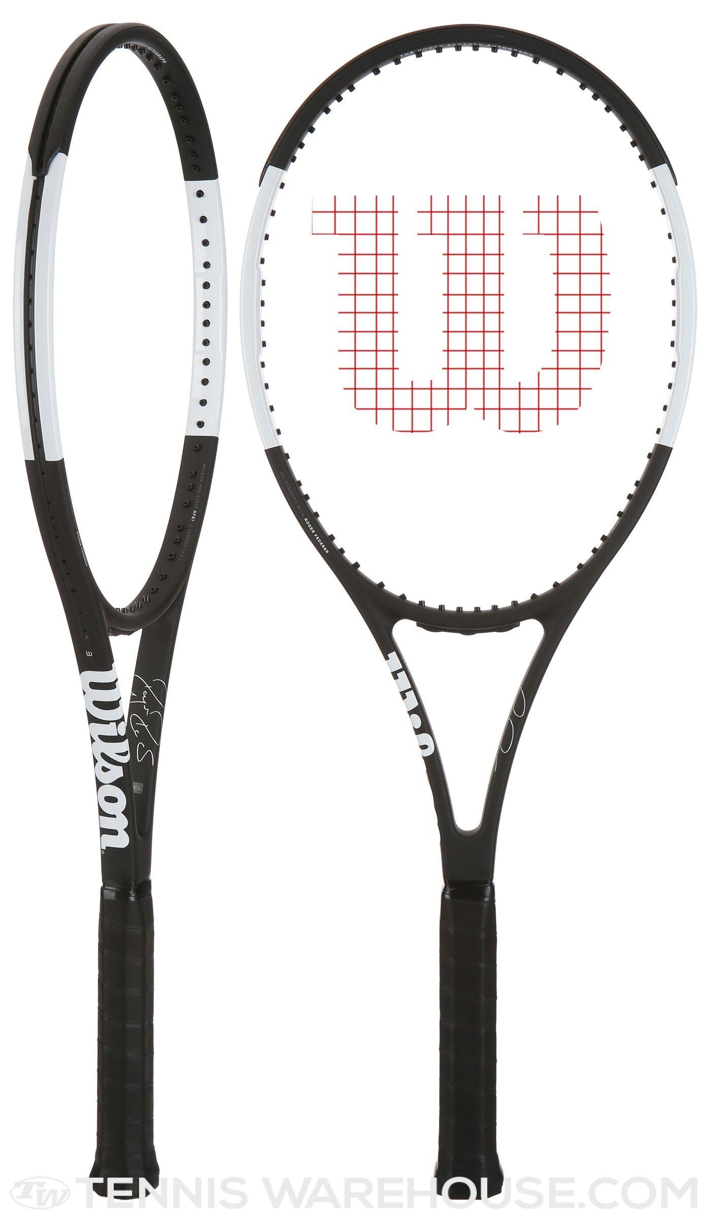 Wilson Pro Staff RF97 Autograph Black White Racquet