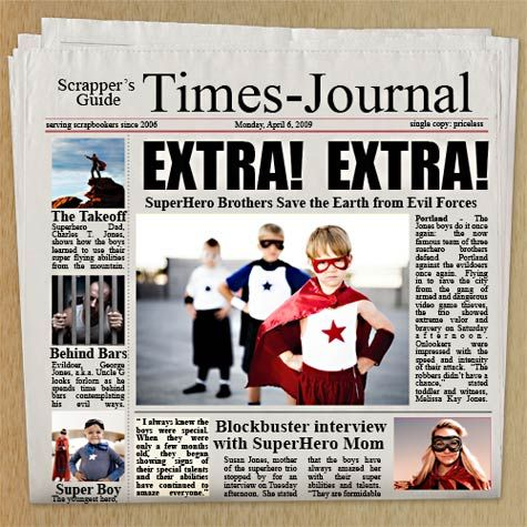 Free Customizable Newspaper Adobe Photoshop Template  Photoshop