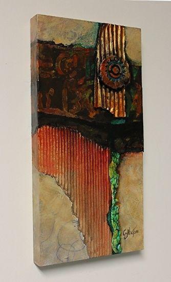 Carol nelson work zoom medallion 2 020715 a kunst malerei abstrakte malerei und abstrakt - Wandbilder aus stoff ...