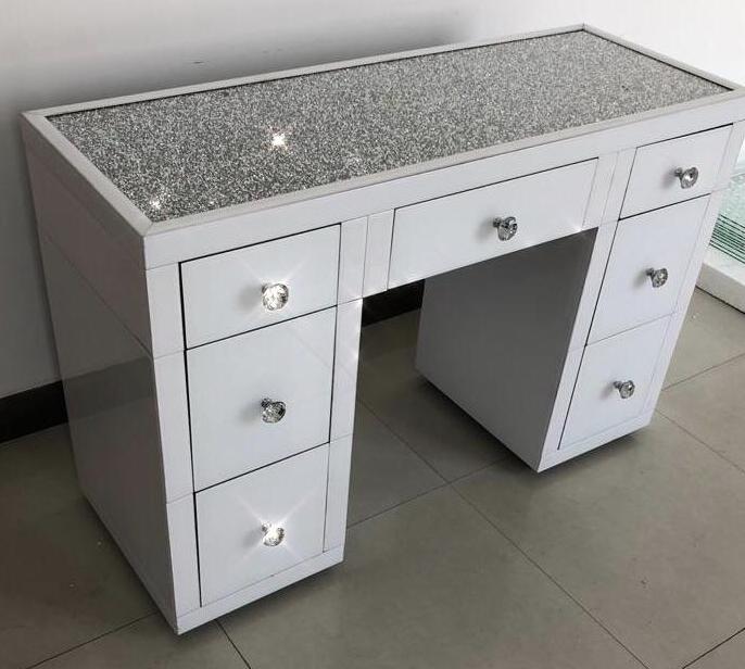 White Mirror Crush Bedroom Bundle Mirrored Furniture Hos Home