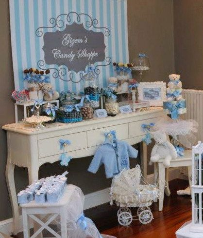 Shabby Chic Shower Party Decorations For A Boy Purchase Here