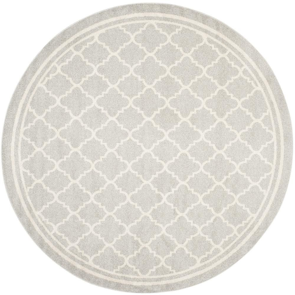 Safavieh Amherst Light Gray Beige 7 Ft X 7 Ft Round Area Rug