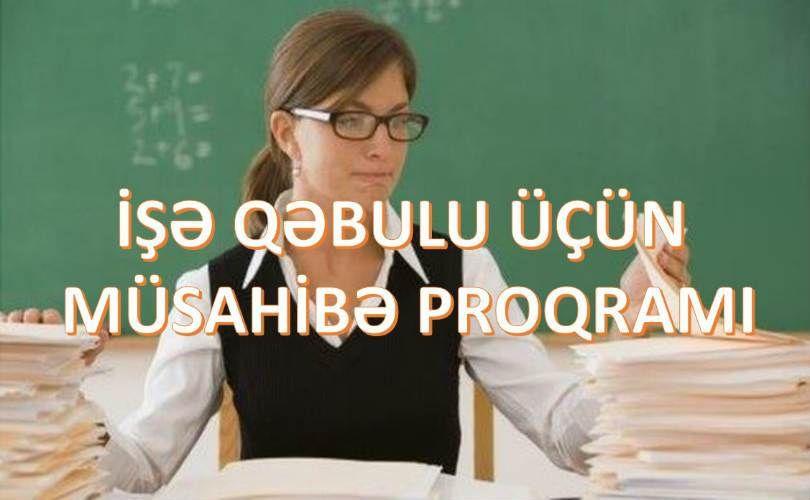 Isə Qəbulu Ucun Musahibə Proqrami Tuba Ise