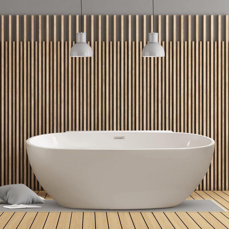 59 x 30 freestanding soaking bathtub in 2020 soaking