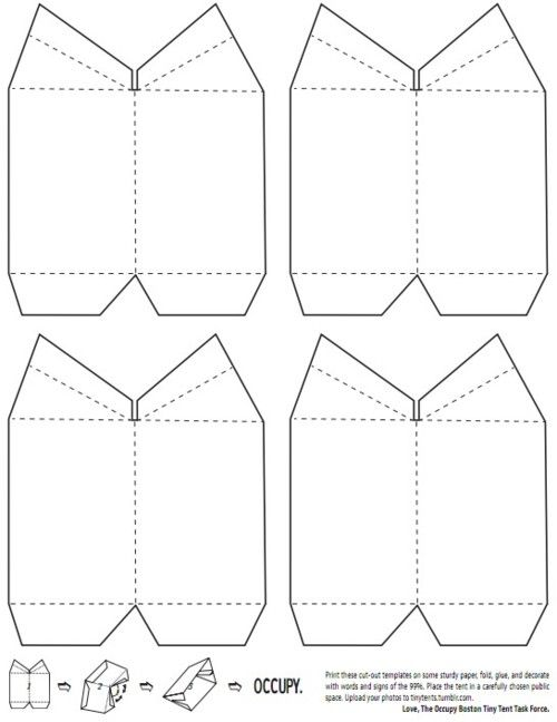 Just a reminder that we do have these lovely printable templates for paper tents. Works especially well with card stock.  sc 1 st  Pinterest & Occupy Online u2014 Call to Action: Occupy Tiny Tents Task Force ...
