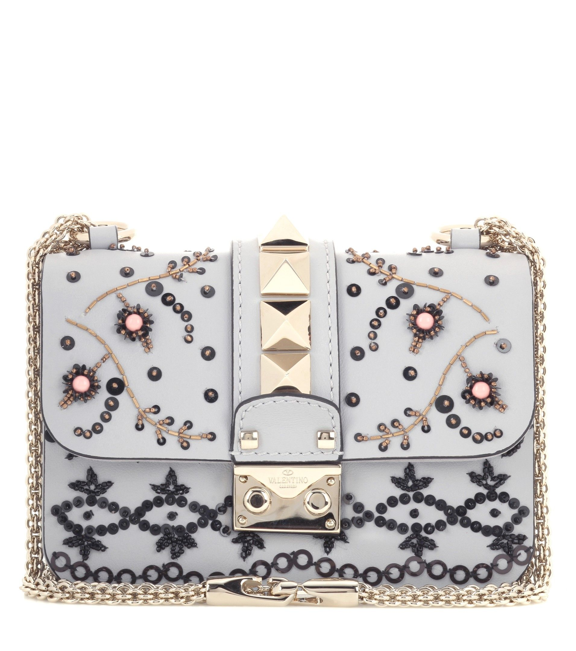 Valentino - Valentino Garavani Lock Mini leather shoulder bag | mytheresa.com