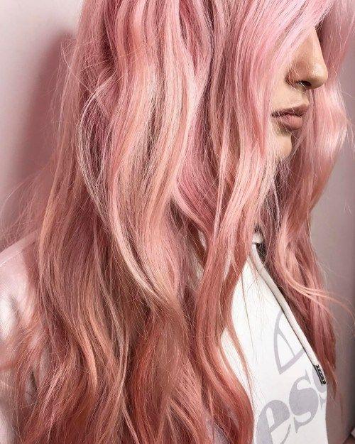 20 Brilliant Rose Gold Hair Color Ideas Goldene Haarfarbe