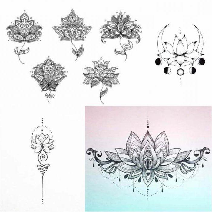 1001 Idees De Tatouage Fleur De Lotus Et Son Symbolisme Tatouage Fleur De Lotus Tatouage Fleur Fleur De Lotus