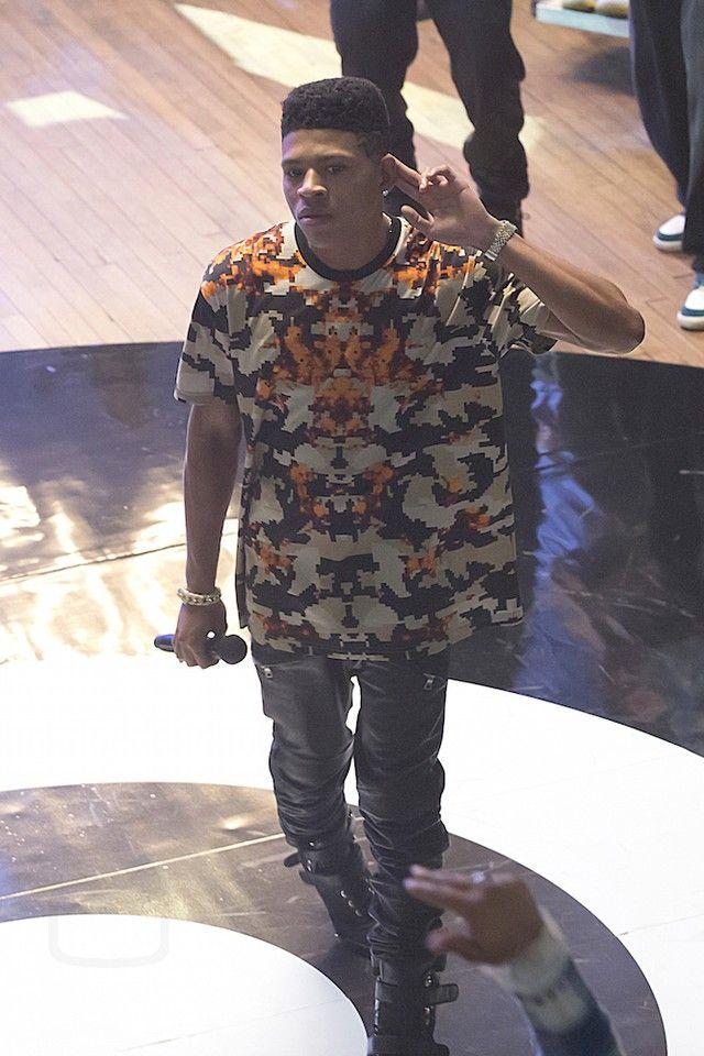 15f5fc1f774 Hakeem Lyon wearing Givenchy Columbian Camo-Print Tee