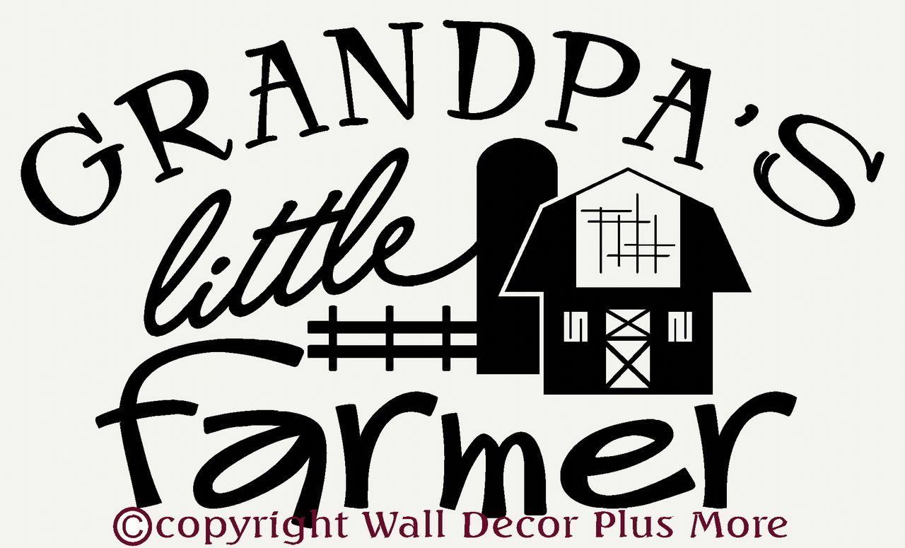 Grandpas little farmer boys western wall stickers decals quotes grandpas little farmer boys western wall stickers decals quotes amipublicfo Images