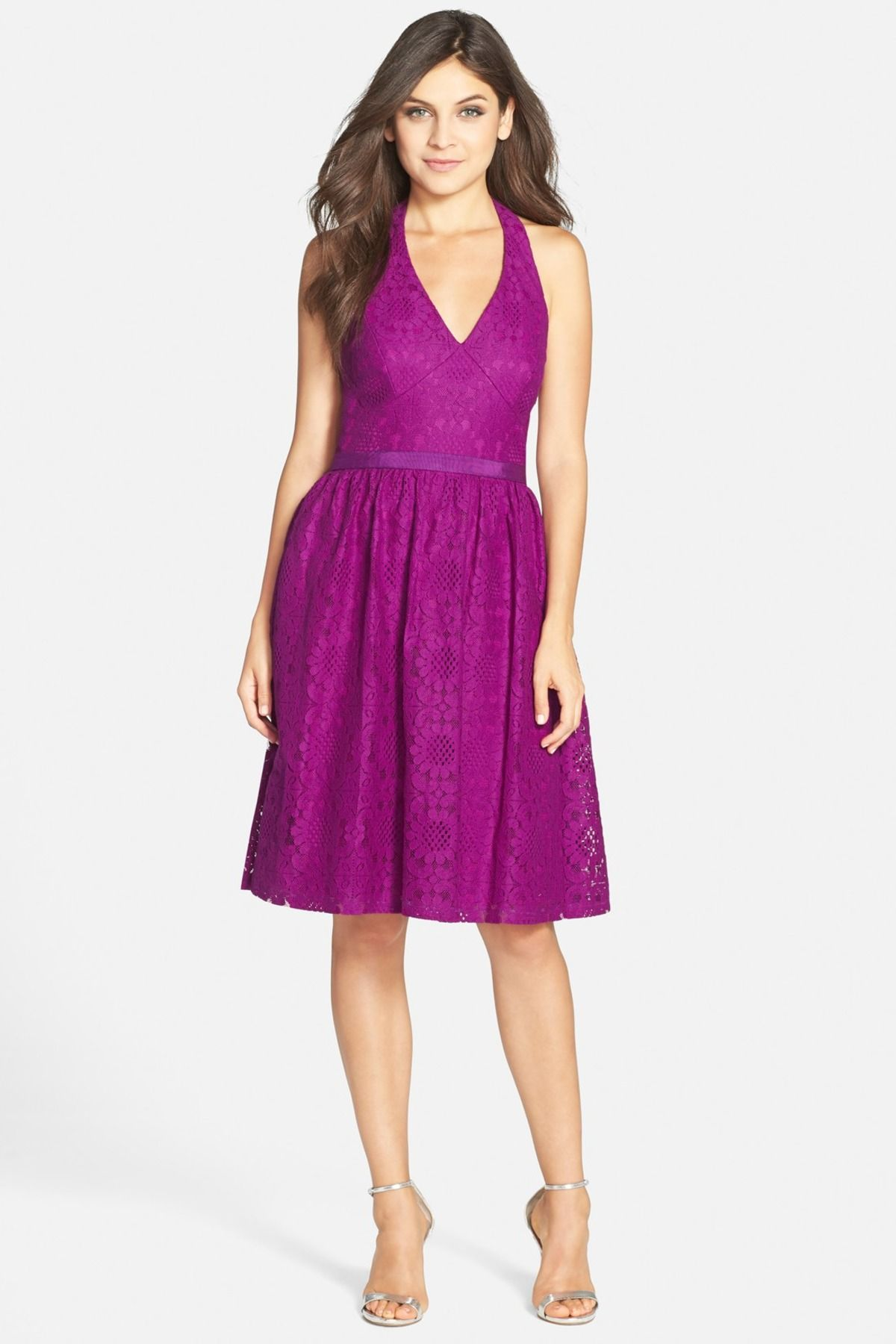 Sunflower Scroll Lace Halter Dress | Pinterest