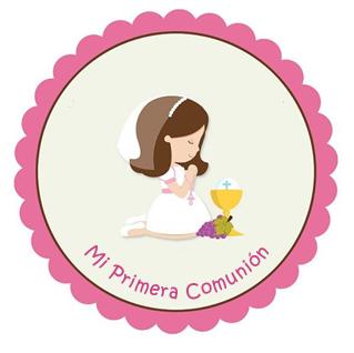 Stikers 1 Imprimibles Primera Comunion Primera Comunion Imagenes Primera Comunion