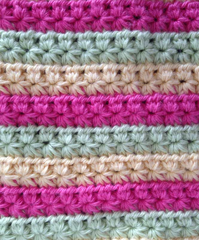 Test strips to cleaning cloths crochet star stitch crochet stars crochet star stitch cleaning cloth by crochet missy dt1010fo