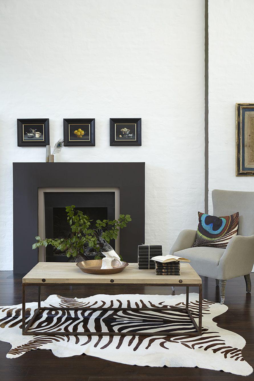 Grijs: Verfkleur Flint 236 (muur), Chocolate Colour 124 (haard) True ...