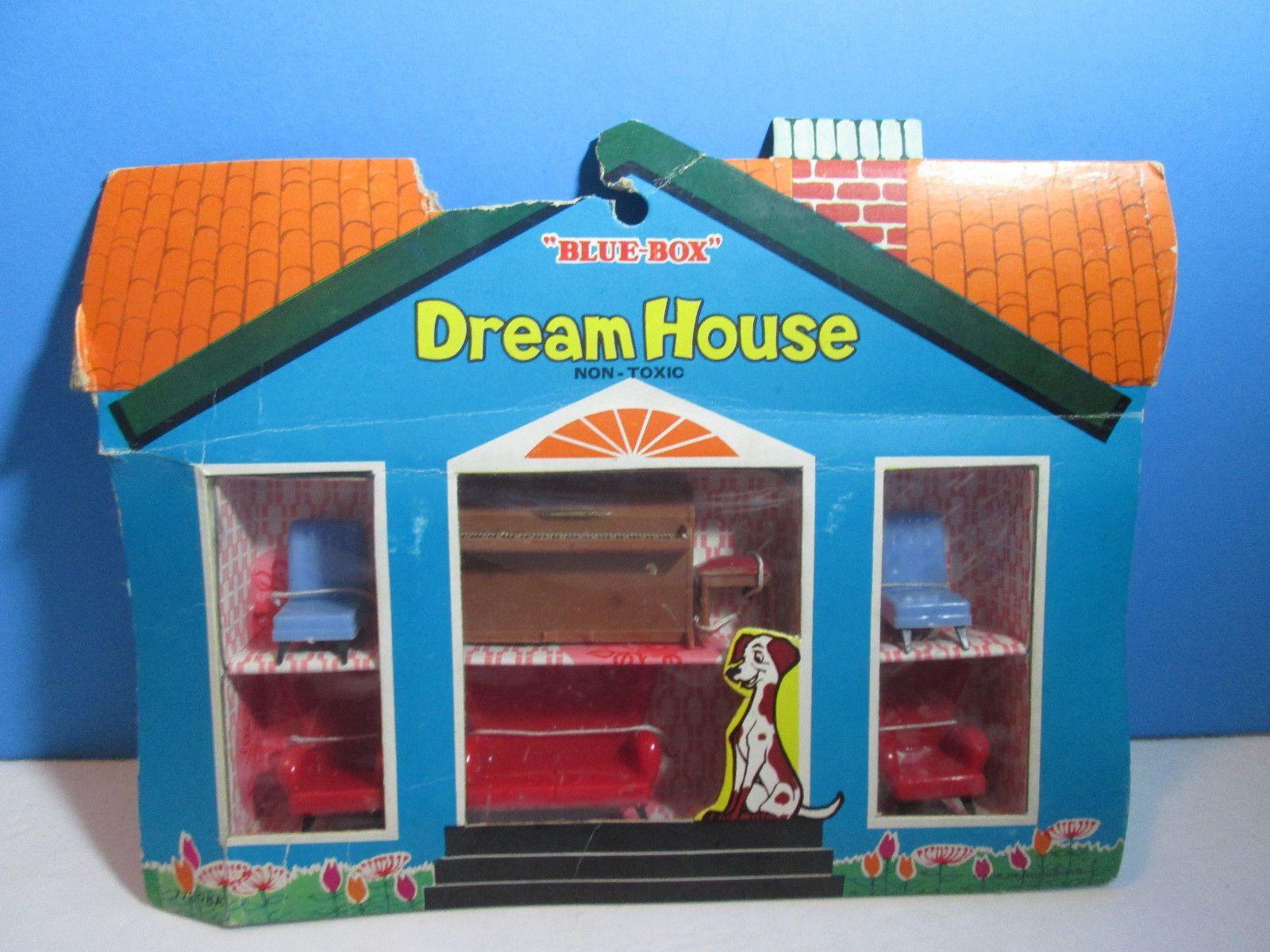 Blue Box Dream House Plastic Doll 6pc Living Room Furniture Set Nip