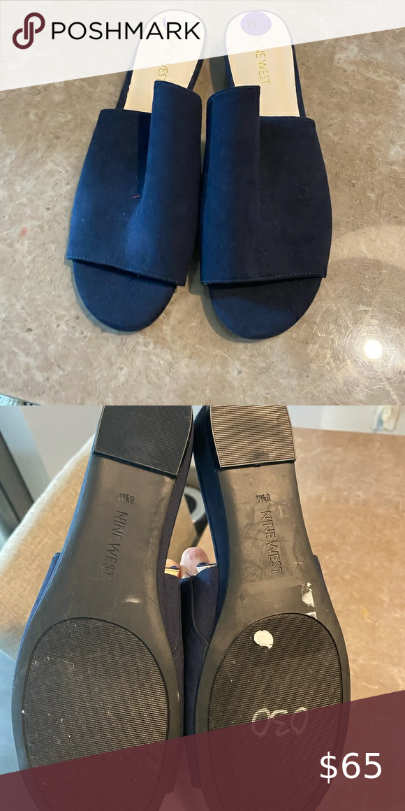 Nine west blue navy new sandals in 2020