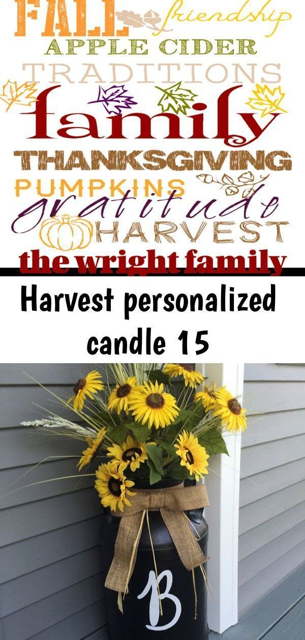 Photo of Harvest personalized candle 15 #autumnalequinox Harvest Personalized Candle Farm…