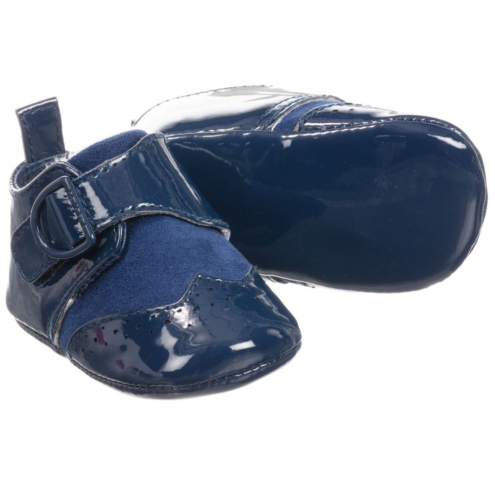 Baby boys navy blue pre-walker shoes by