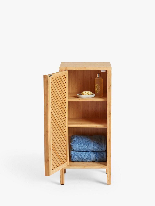 John Lewis Partners Chevron Single Towel Cupboard Natural In 2020 Chevron Furniture Cupboard Furniture