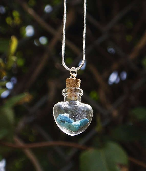Turquoise Birthstone Necklace Mother's Day Gift Raw