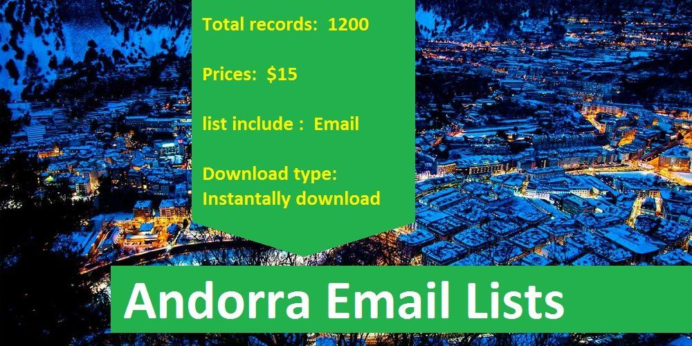 Andorra Email Lists in 2019 | Latestdatabase com | Email marketing