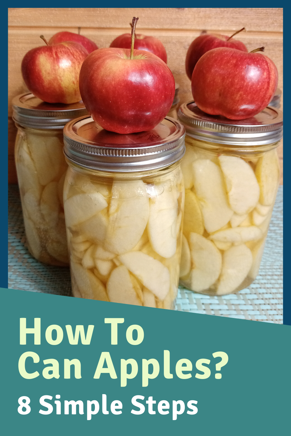 How To Can Apples At Home Canned Apples Canning Recipes Canning Apples