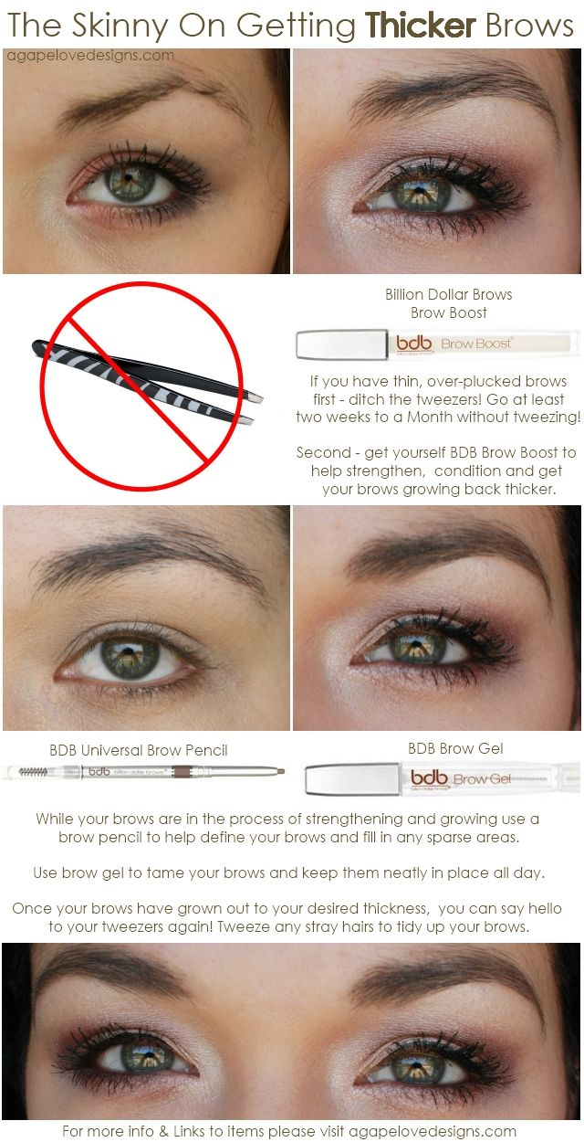 Agape Love Designs The Skinny On Getting Thicker Brows Beauty