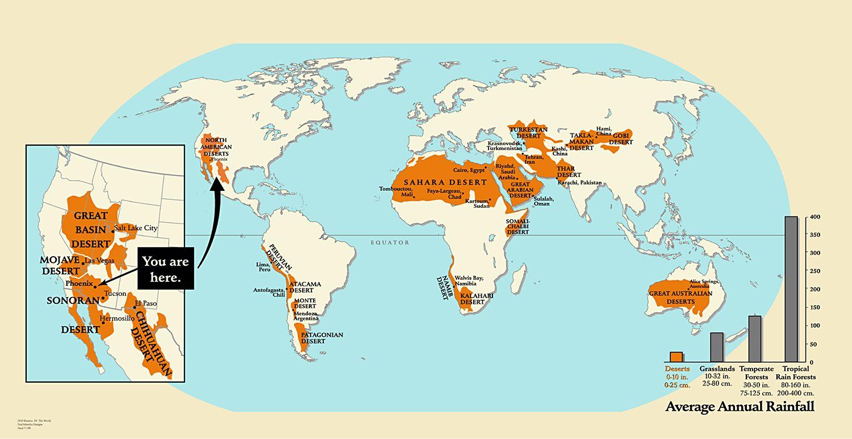 Deserts Of The World Map Besttabletfor Me In Desert Desert Map
