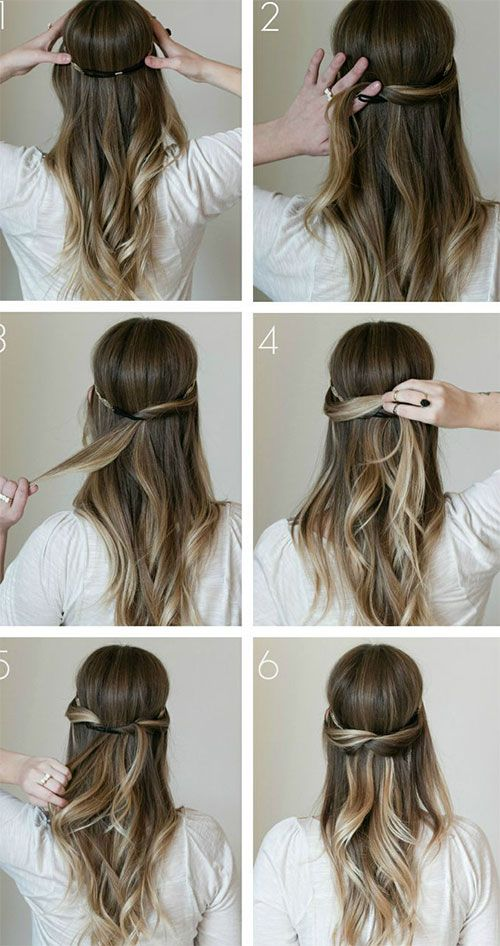 Running late for college? Try out these simple and easy hair styles for long hair.   #hairsryle #sim