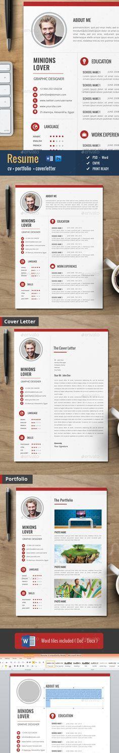 Clean Cv / Resume Pinterest Cv resume template, Pinterest design