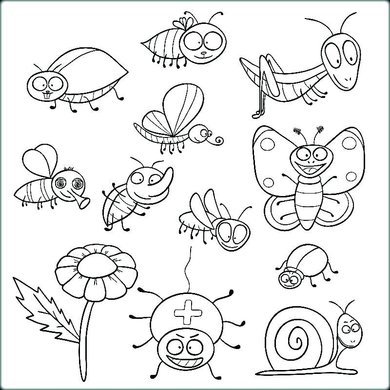 Insect Coloring Pages Pdf Insects Colouring Pictures Kids At Insect Coloring Pages Preschool Coloring Pages Bee Coloring Pages