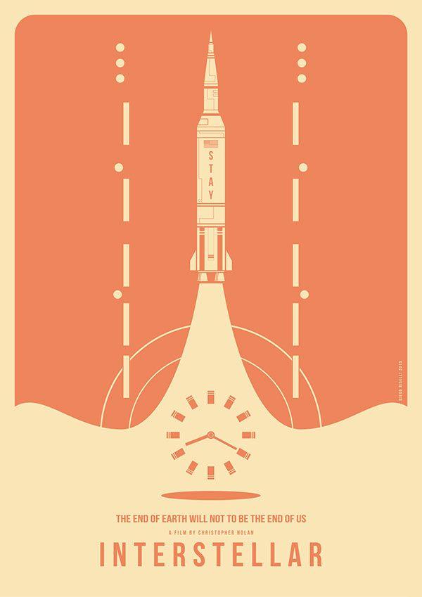 Interstellar Vector On Behance Interstellar Movie Posters