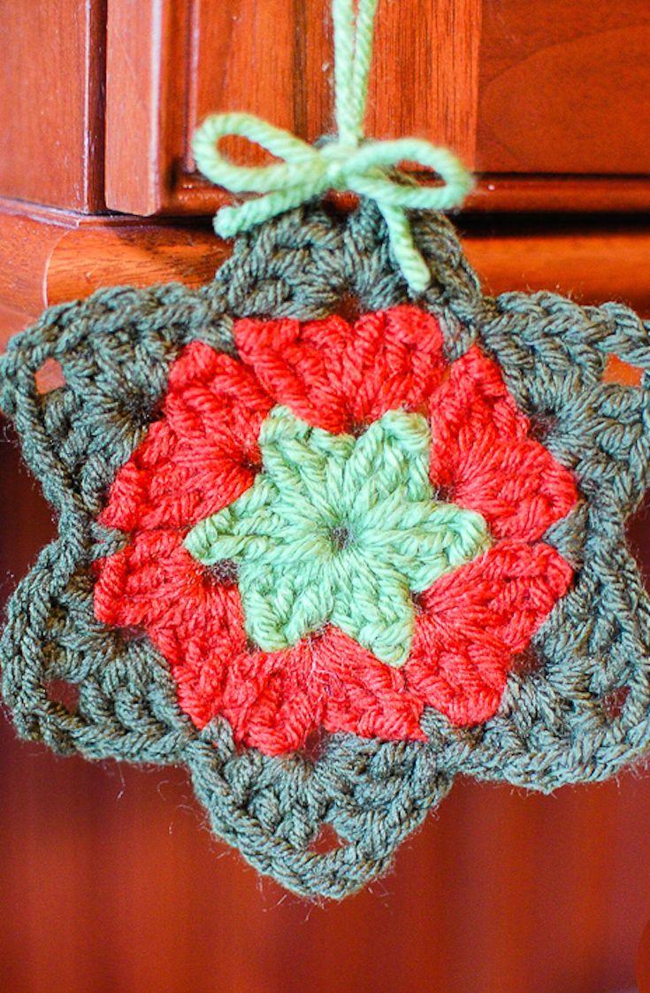 Easy Granny Star Crochet Pattern | Crafts | Pinterest | Crochet ...