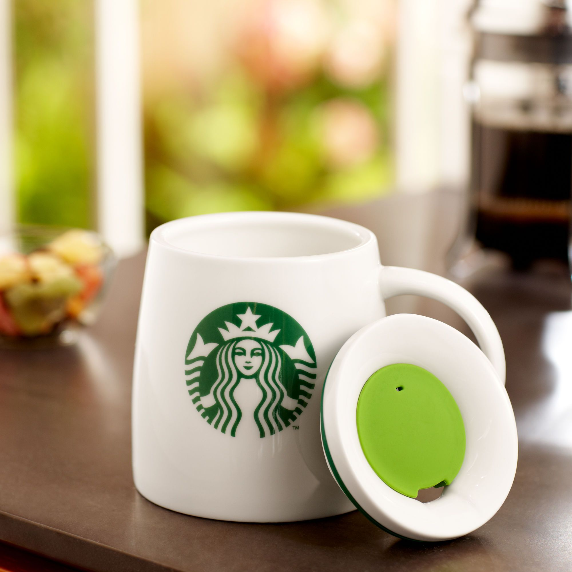 Starbucks® Ceramic Mug with Lid, 14 fl oz, for Michele