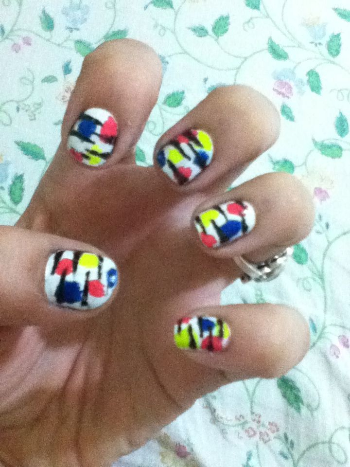 Crazy nails, by moi. | Crazy nails, Nails