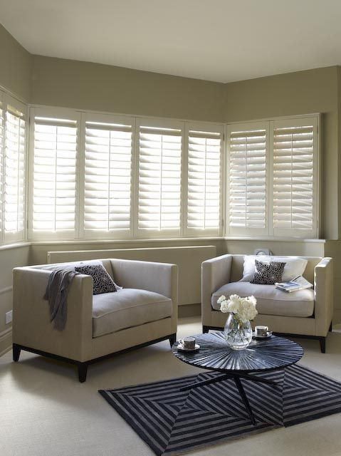 Give A Traditional Bay Window A Sleek Finish With Plain