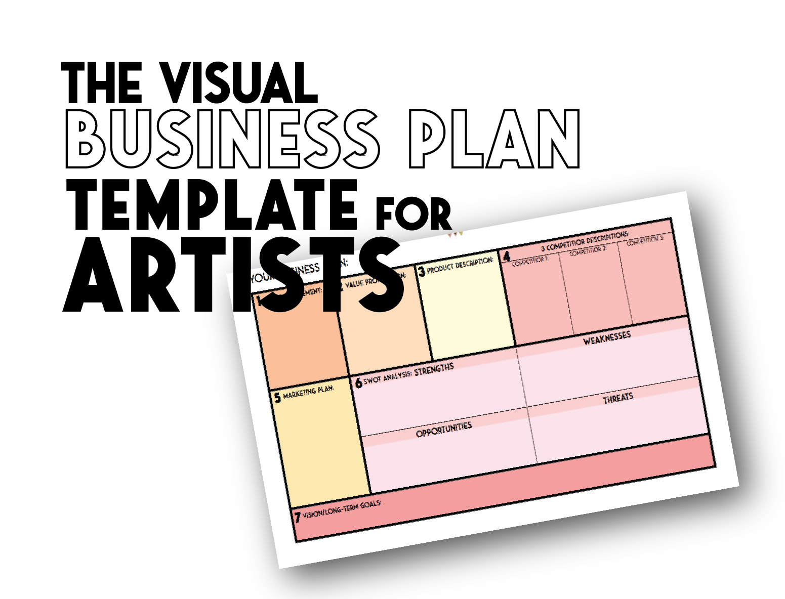 The Visual Business Plan Template For