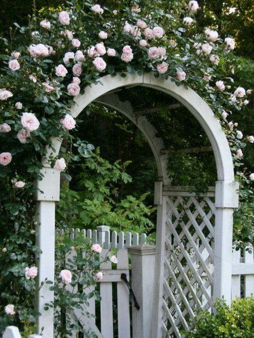 coole gartengestaltung mit rosenbogen blickpunkt im garten rosenbogen rosen pinterest. Black Bedroom Furniture Sets. Home Design Ideas