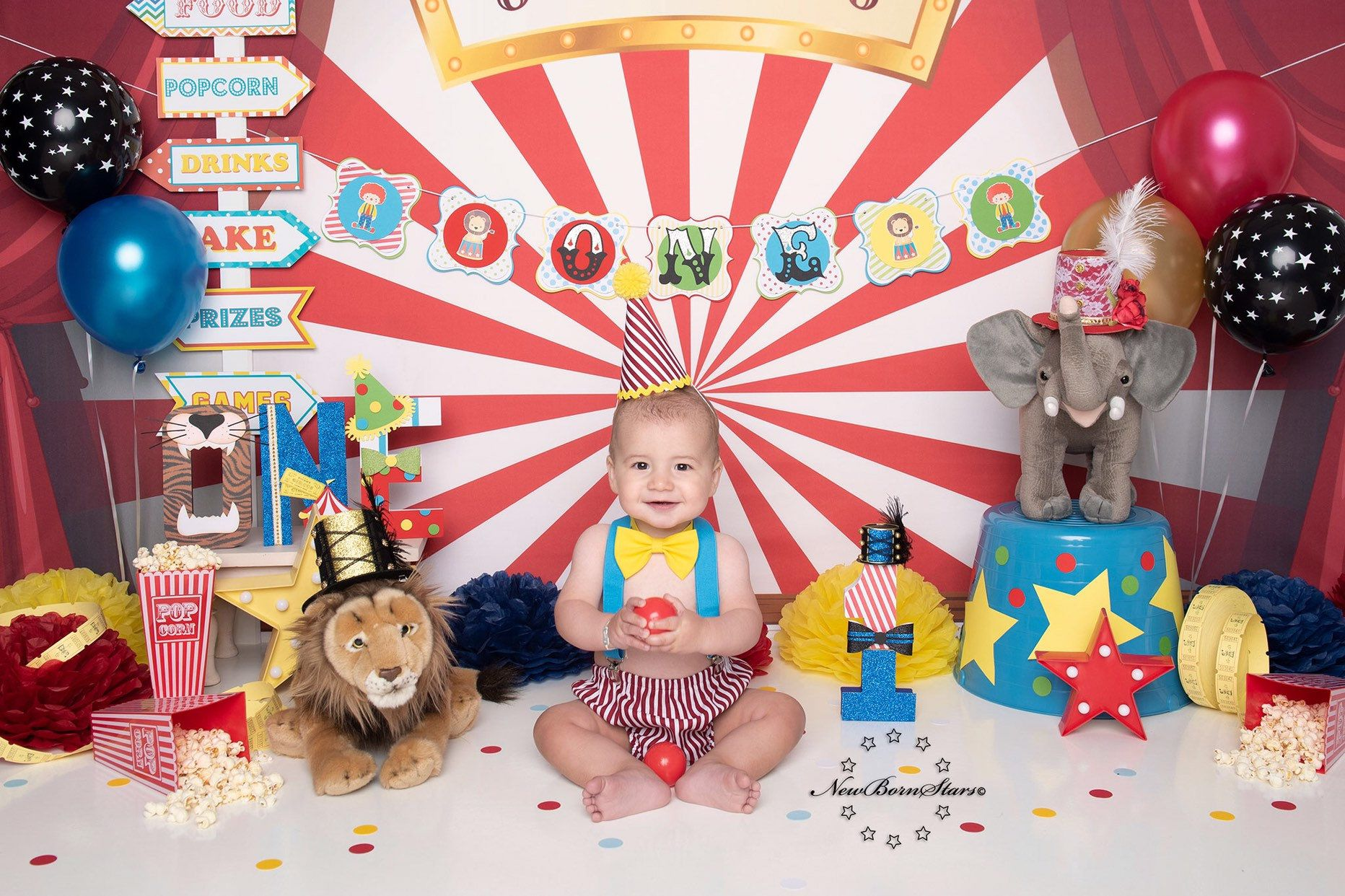 Circus cake smash outfit boy birthday outfit 1 2 3 or 4